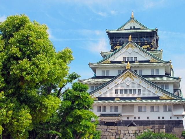 Osaka castle i Japan
